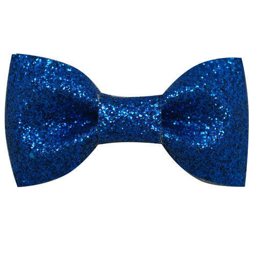 5 Inch Large Glitter Bling Leather Hair Bow With Clip for Girls HB004