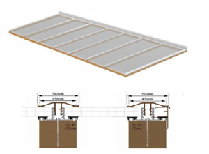 Complete Timber Supported Polycarbonate Roof Kit 3 Metre Long 6 Metre Wide.