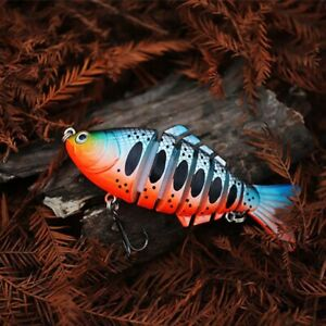 Multi Jointed Fishing Lure Bait Bass Lures Tackle Topwater Hooks Minnow Swimbait