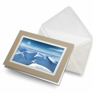 Greetings-Card-Biege-North-Pole-Landscape-Ice-Snow-16667