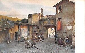 B98392-la-porta-cavalleggeri-italy-painting-postcard
