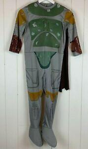 Halloween-Costume-Star-Wars-Bobba-Fett-Jumpsuit-Belt-Boys-Medium-M-7-8-Rubies
