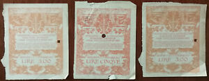 Italy-Ministry-of-Education-Of-Antiquities-And-Fine-Arts-Tickets-x-3-1923