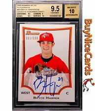 2009 Bryce Harper Bowman AFLAC RC Rookie Auto /230 BGS 9.5 with 10 Surface