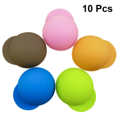 10pcs Silicone Cup Cover Reusable Sealing Cola Lids Leakproof Cup Lids for Cans