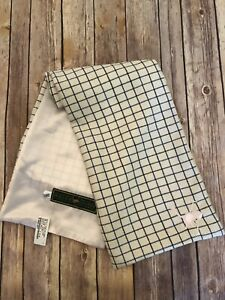 Holland Cooper Ivory Blue Checked Tweed Scarf Nee With Tags Ebay
