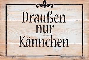 Exterieur-Seulement-Kannchen-Panneau-Metallique-Plaque-Voute-Metal-Etain-Signer