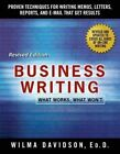 Business Writing by Wilma Davidson (Paperback, 2015)