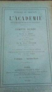 Revista Sesiones y Trabajo De L Academie Informe Sept - Oct 1913 París ABE