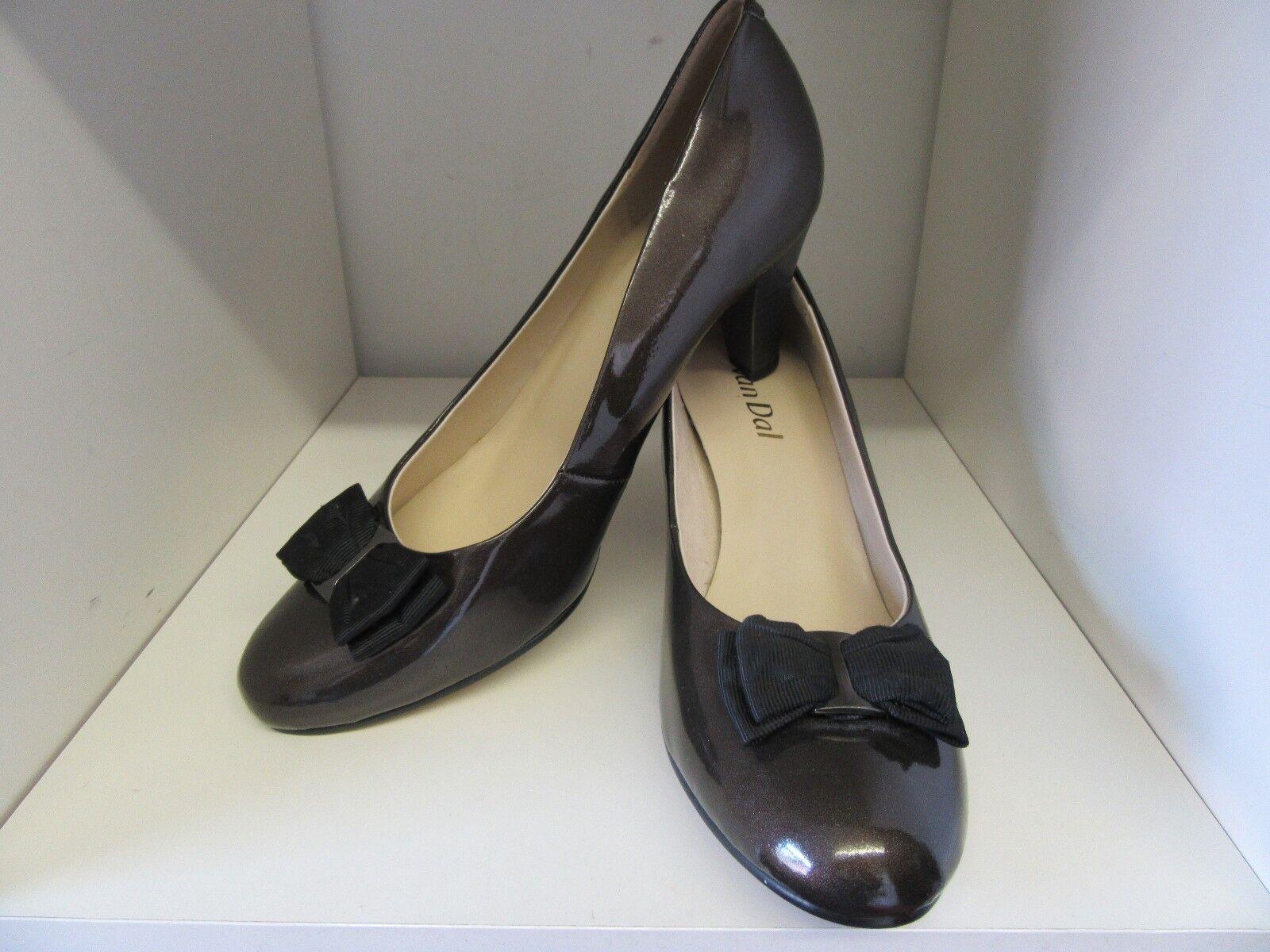 VAN DAL - BRONZE PATENT COURT Schuhe SIZE 8 - DAL 41D BRAND NEW 539f9e