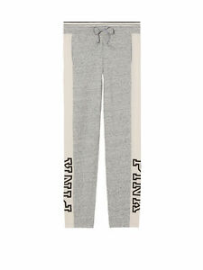 VICTORIA-039-S-SECRET-Pink-Straight-Leg-Pant-Sz-XSmall-NWT-Color-Marl-Gray-Off-White
