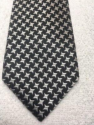 Serio Axist Cravatta Uomo Nero E Bianco 2.75 X 61 Skinny Stretto Sottile Prezzo Moderato