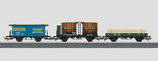44140 Set vagoni merci der W. St.3 pezzi   NUOVO in scatola originale