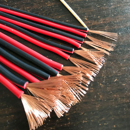 18AWG PVC Fil Isolé 2pin Étamé Câble Cuivre Fil Électrique 1Mètre Par Lot