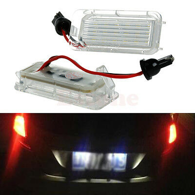 1 Pair License Plate Light 18 LED Lamp For Ford Mondeo Focus 5D C-MAX Canbus new