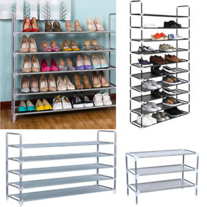 5-10-Tier-Space-Saving-Storage-Organizer-Shelf-Free-Standing-Shoe-Tower-Rack-USA