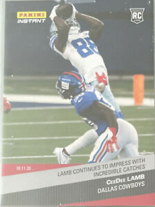 2020-Panini-Instant-CeeDee-Lamb-RC-67-INCREDIBLE-CATCHES-SSP-215-Rookie