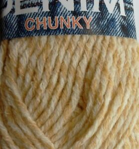 discount sale newest no sale tax Details about 2 x 100g SIRDAR DENIM Chunky Yarn, Beige/White. M-Washable.  Knit/Crochet/Weave