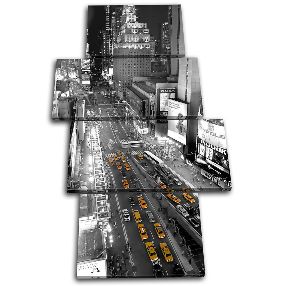 New York Taxi Cabs City MULTI Leinwand Wand Kunst Bild drucken