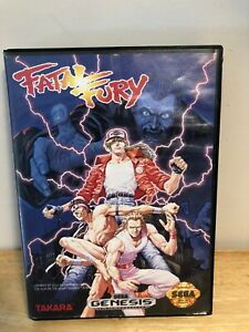 Fatal-Fury-Sega-Genesis-Complete-1991-AUTHENTIC-Tested-Ships-Fast