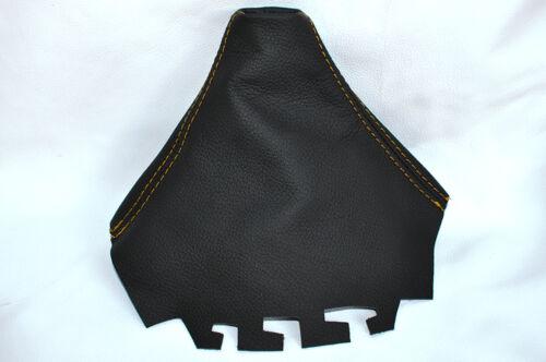YELLOW STITCHING FITS SEAT CORDOBA IBIZA MK3 6L 2002-2008 GEAR GAITER LEATHER