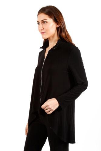 Veste et noire zippée l'avant Joseph en manches 181148 longues à à tricot Ribkoff soyeux rrq6S