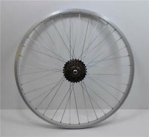 26-034-Alloy-REAR-Mountain-Bike-Wheel-amp-7-SPEED-SHIMANO-FREEWHEEL-Bicycle-MTB-R