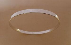 925 Sterling Silver British Hallmark SOLID Heavy Slave BANGLE Bracelet Circumference 22 cm KbZzjZhEaR