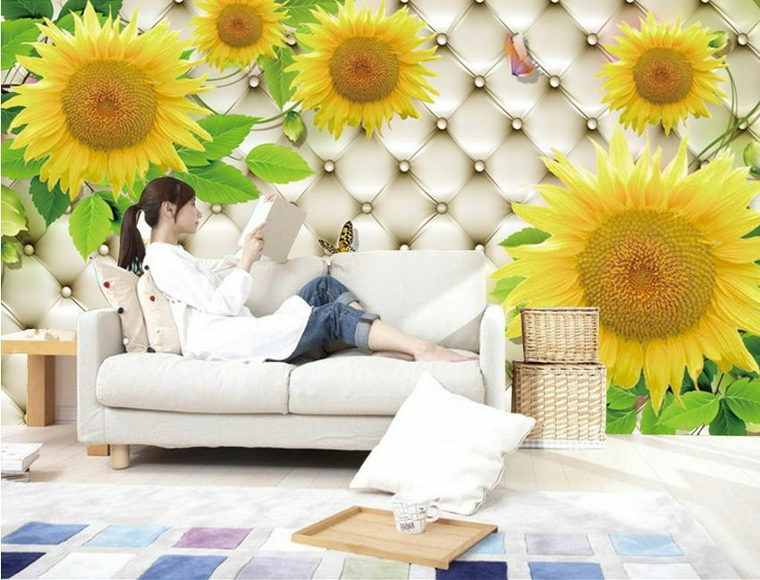 3D Mature sunflowers 12723 Wall Paper Wall Print Decal Wall Deco AJ WALLPAPER