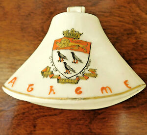 Arcadian-crested-china-vintage-ornament-Bell-shape-City-of-Canterbury-crest