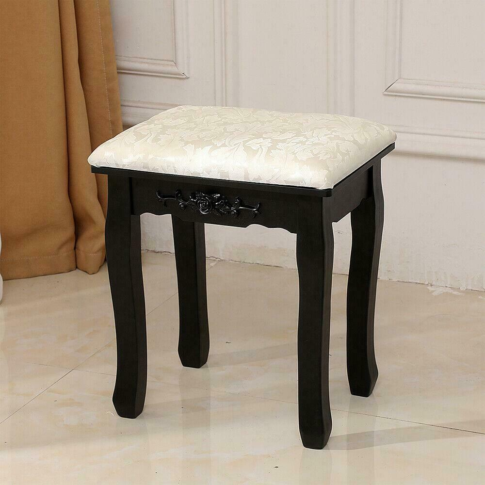 Small Vanity Bathroom Chair Stool Bedroom Bench Bath Makeup Padded Seat Brown For Sale Online Ebay