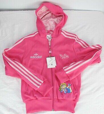 Adidas Adicolor Missy Piggy Hoodie Womens Jacket 38 Pink Series Trefoil RARE | eBay