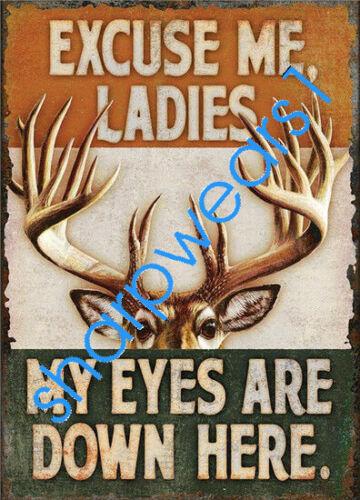 Metal Tin Sign excuse me ladies  Bar Pub Home Vintage Retro Poster Cafe ART
