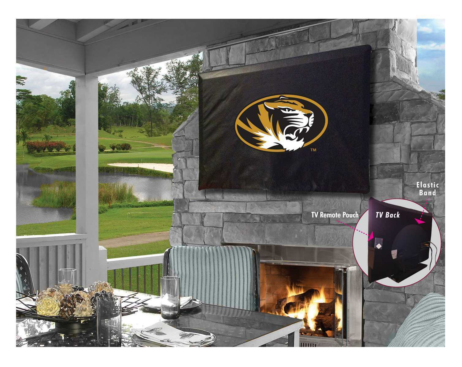 University of Missouri Outdoor TV Cover w  Tigers Logo