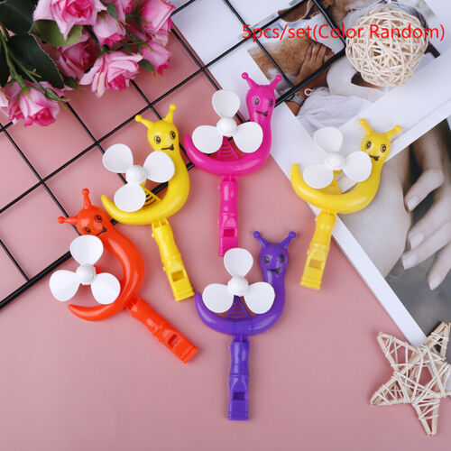 5Pcs Snail Windmill Whistle Kids happy birthday party for girl and bo S4