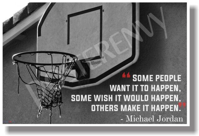 Make It Happen - Michael Jordan - NEW Motivational POSTER