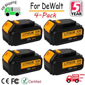 4-x-For-DeWalt-DCB204-2-20V-20-Volt-Max-XR-4-0-Ah-Max-Lithium-Ion-Battery-DCB200