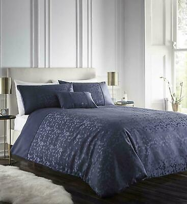 Luxury Jacquard Lucien Navy Blue Duvet Cover Set Geometric