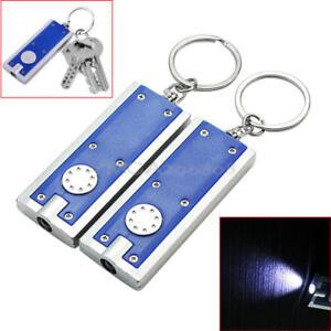 10x LED Flashlight Mini Micro Keychain Key Ring Bright Torch White Light Perfect