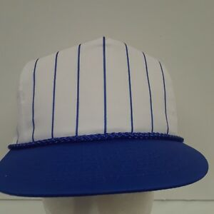dfe773e6011fdf NEW Nissin Cap Hat Baseball Royal Blue White Pin Stripe PSTGG- 003 ...