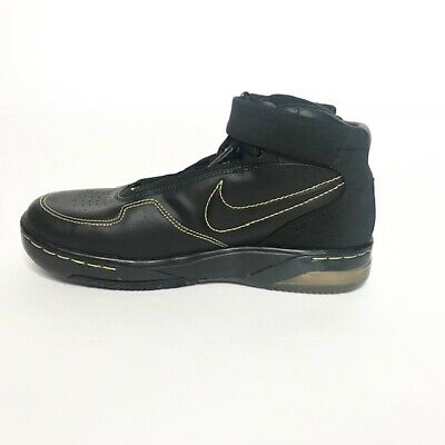 brand new cfd25 d4df8 Nike Air Force 25 -Sz 6.5Y- Girls' Black and Gold Basketball Shoes Mid Top  Lace | eBay