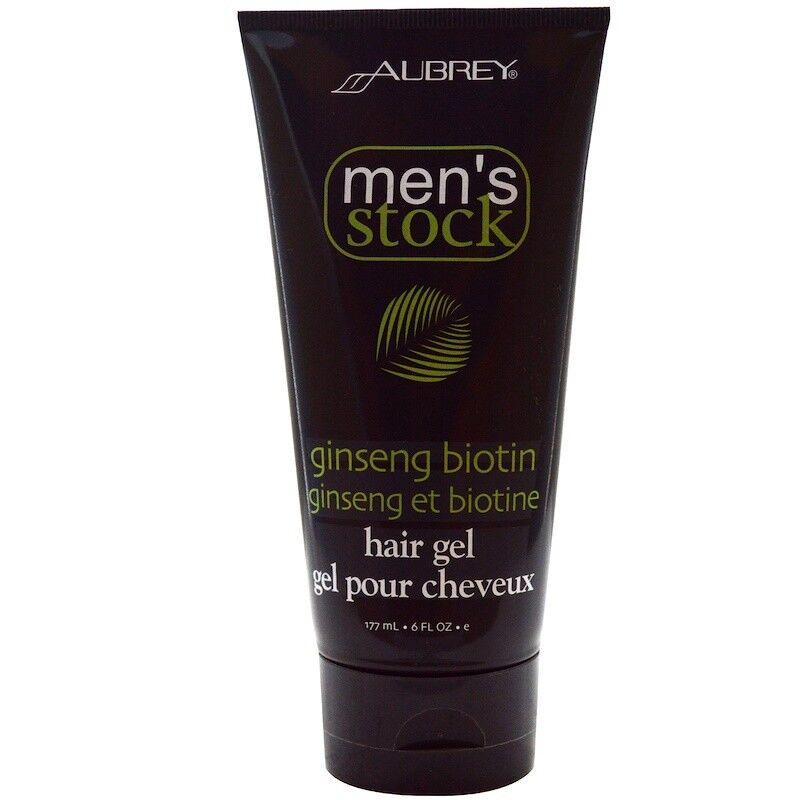Aubrey Organics Mens Stock Ginseng Biotin Hair Gel All Natural