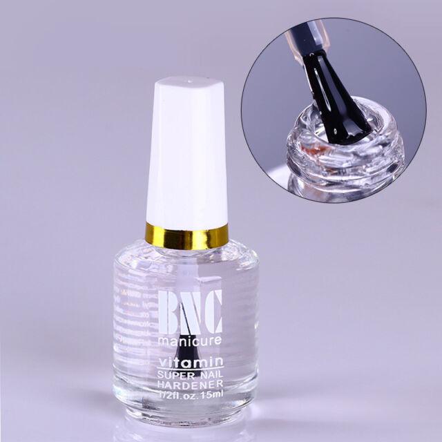 15ml Nail Hardener Top Coat Cover Polish Clear Gloss Nail Art Finish Varnish