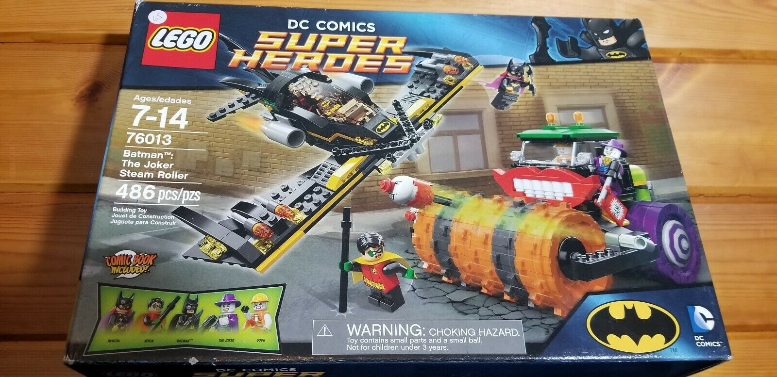 LEGO Super Heroes The Joker Minifigure Keychain 76013 Steamroller 6857 6863