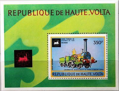 Briefmarken EntrüCkung Upper Volta Obervolta 1973 Block 13 S/s C159 Eisenbahn Locomotives Railroad Mnh