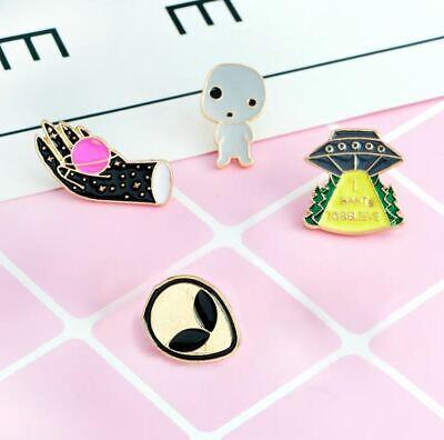 Enamel Pin Badges Set of 4 EB0063 UFO Aliens X Files
