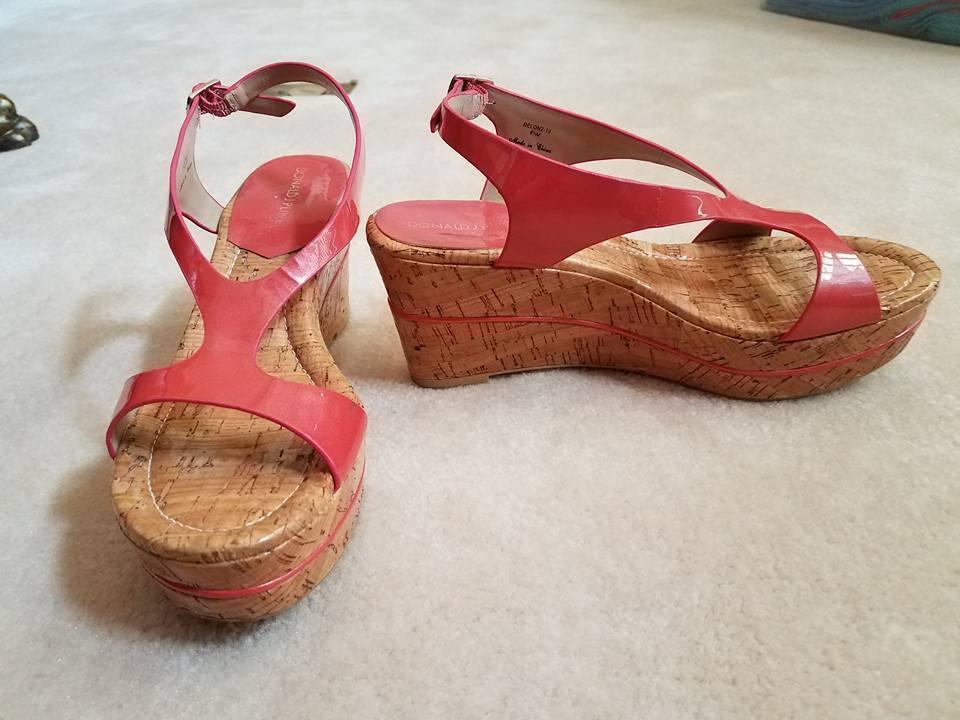Donald J Pliner Cuña Sandalias Zapatos Coral Delon tamaño tamaño tamaño 8.5 M Con Caja Usado un par de veces  tienda de venta