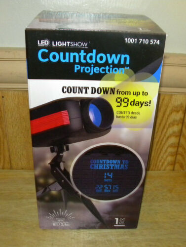 LED LightShow Countdown To Christmas Projector Outdoor Sensor New