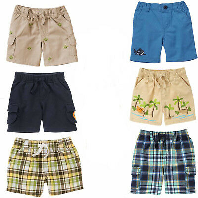NWT Gymboree SPACE VOYAGER Blue Buckle Cargo Pull On Shorts NEW