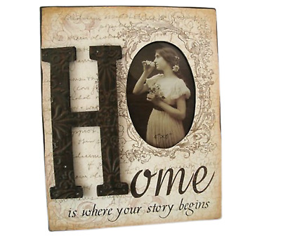 Ex Large Antique Vintage Finish Wooden Photo Frame Home 3D Country Style SG1262
